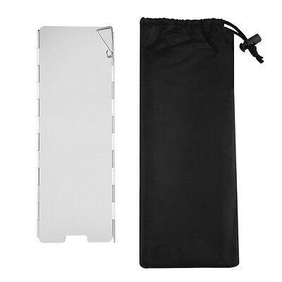 OUTAD New Enlarged Portable Foldable Aluminium Windscreen For Camp Stove F5