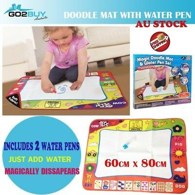 60*80CM Magic Doodle Mat Water Pen Drawing Painting Board Toy Kids Gift Baby