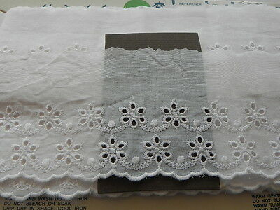Card of New Broderie Anglaise - White A