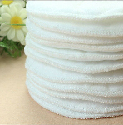 20 x 10CM Bamboo Reusable Breast Pads Nursing Waterproof  Plain Washable Pads