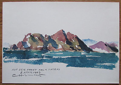 Clemens Holzmeister INSEL ITHAKA 28x40 Faksimile Reproduktion art print