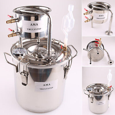 2GAL/10L Stainless Steel Moonshine Still Home Brewing Kit Alcohol Oil Distiller