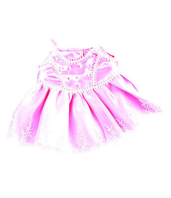 """Amazing Pink Pearly Dress 16"""" will fit Build a Bear & Stufflers Bears"""