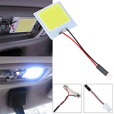 48 SMD COB LED T10 12V 4W White Light Car Interior Panel Lights Dome Lamp Bulb