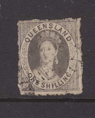 Qld Chalon  Sg29? 1/ Grey Rough Perfs. Used