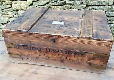 Antique 19th C Lord Hastings S.W. Silver & Co Military Campaign Cupboard Trunk