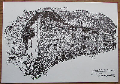 Clemens Holzmeister BURG CALLIANO TRENTINO 28x40 Faksimile Reproduktion print