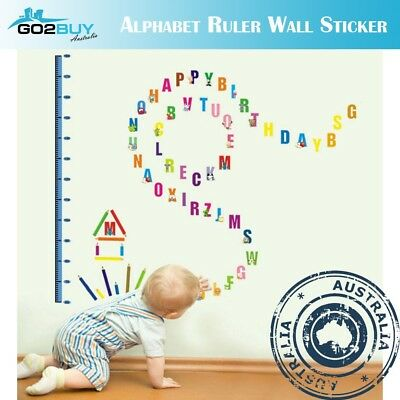Wall Stickers Removable Alphabet Height Ruler Kids Nursery Decal Growth Chart