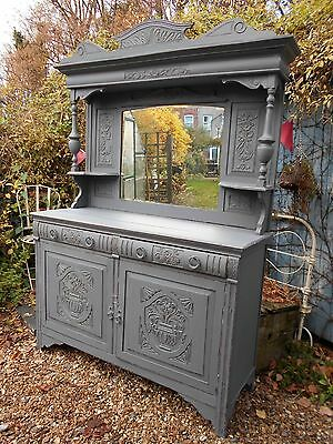 Lovely   Victorian  Painted / Distressed   Dresser / Sideboard