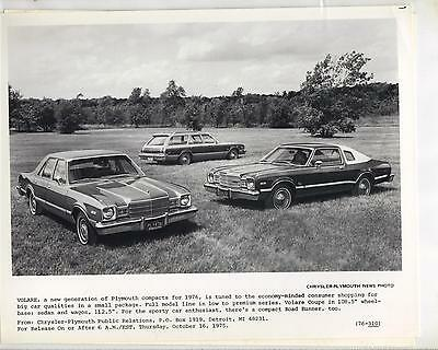 1976 Plymouth Volare      Chrysler-Plymouth News Photo  76-310