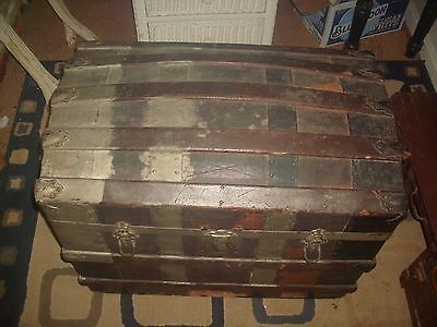 Antique  Steamer Trunk with Dome Top