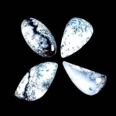 66 Ct. 4 Pc Aaa Beautiful Natural Dendritic Opal Mix Cab Loose Gemstone A 27989