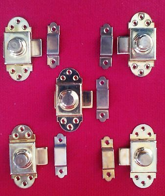 5 fasteners in polished antique style brass