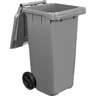 NEW! Mobile Trash Container with Lid - 32 Gallon Gray!!