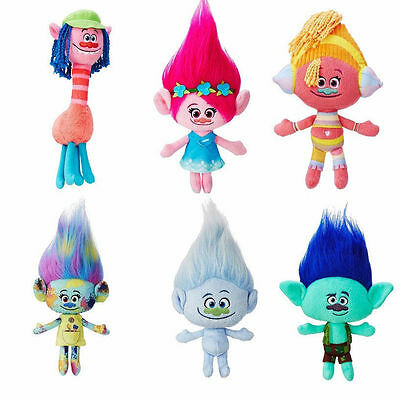 NWT DreamWorks Trolls Toys Large Poppy Branch Hug and Plush Doll Kids Xmas Gift
