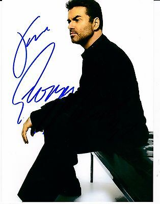 George Michael Signed Photo Genuine