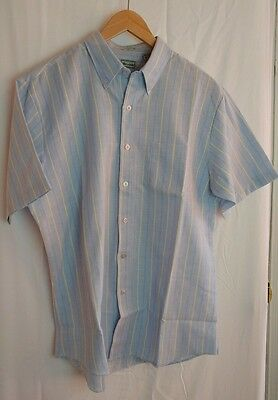 Awesome Vintage Blue Collins and Bailey S/S Dress Shirt Men's Large Button Down