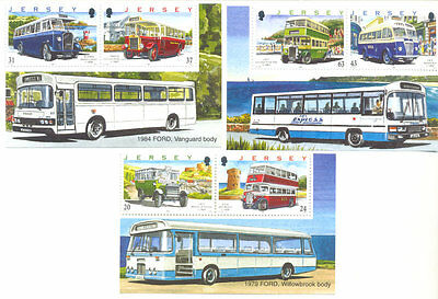 Jersey-Buses - 1998 set + margins from booklet mnh