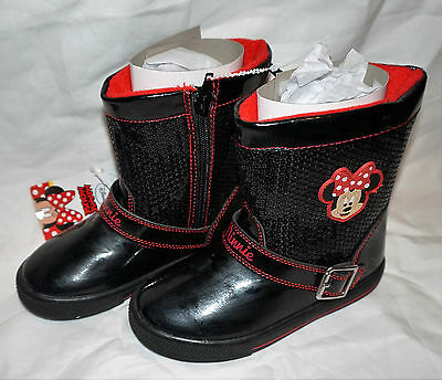 Minnie Mouse Girls Winter  Character Boots Size 12