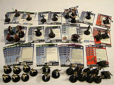 Star Wars Miniatures Lot of 42 New Republic and Yuuzhan Vong Figures