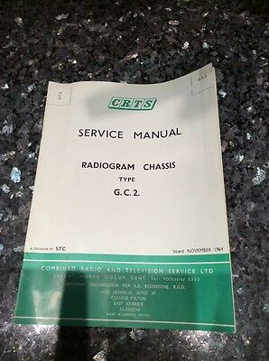 CRTS SERVICE MANUAL FOR Radiogram Chassis Type G.C.2. • EUR 4,35