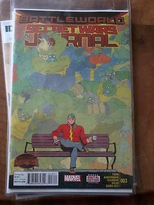 Secret Wars Journal no. 3 (September 2015) - NEW, bagged and boarded
