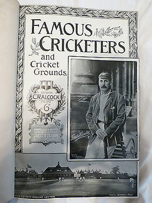 Famous Cricketers and Cricket Grounds @1894 edited by CW Alcock  Hardback Book