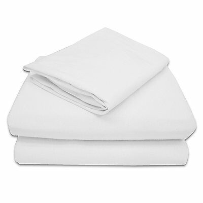 TL Care 100% Jersey Cotton 3 Piece Toddler Sheet Set, White 2430