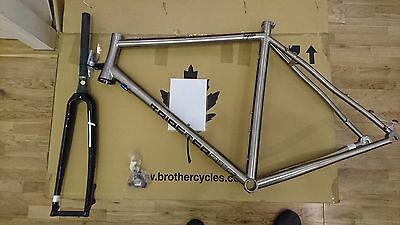 New Kinesis Tripster Ti Frame, carbon fork and headset, 57cm, Road, CX, Gravel,