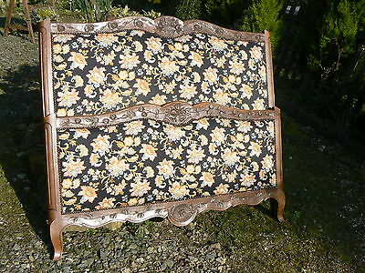 Beautifully Heavely Carved Flowers & Baskets  Solid Oak Upholstered Double Bed