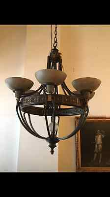 Gothic style chandelier - 6 light bulbs