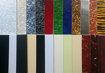 Blank Pickguard Sheet scratchplate material 44 x 29cm various colours 1 3 4 ply