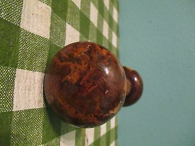 vintage brown porcelain door knob