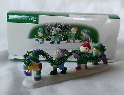 Department 56 North Pole Series Tangled In Tinsel With Box Elves