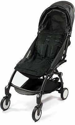 Choopie Stroller Seat Liner, Cityliner Baby Stroller Cushion Pad, Just Black