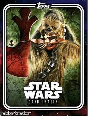 Chewbacca Galactic Crest Pack Art - TOPPS STAR WARS CARD TRADER