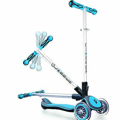 Globber 3 Wheel Scooter My Free Fold Up Sky Blue