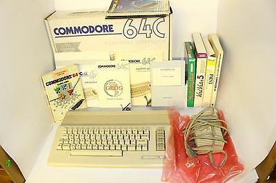 Vintage Commodore 64C Personal Computer in Original Box WORKS GREAT!