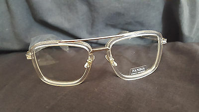 TOP Quality Luxury Men Woman Vintage Oversize Clear Gold Frames  Eyeglasses