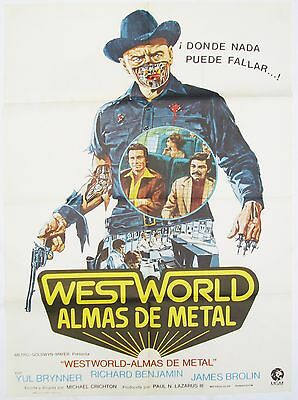 Westworld Vintage 1973 Original Promotional Spanish One Sheet Poster