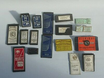 Antique Vintage Lot Hand Sewing Needled