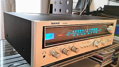 Nikko 3035 vintage stereo receiver silver very beautiful worldwide ship