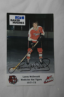 Lanny McDonald Autographed - Medicine Hat Tigers Retro Card - Big Photo Card