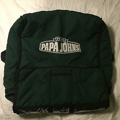 Papa Johns Pizza Insulated Hot Delivery Bag Holds 4 large Green