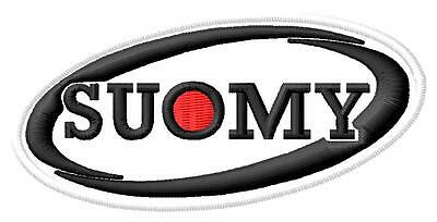 Suomy ecusson brodé patche Thermocollant iron-on patch