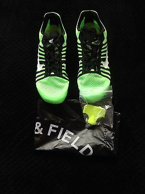 Nike Zoom D Racing Distance Running Shoes With Spikes Green Size 11.5