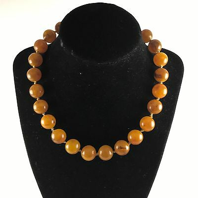 Vintage Pressed Natural Butterscotch Amber Necklace Choker. 35 Grams