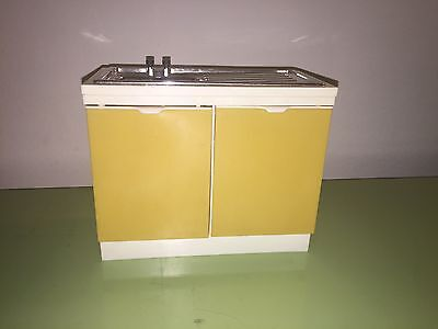 Vintage 1970s Sindy Doll by Marx Retro Gold Kitchen Sink With Stopper Furniture