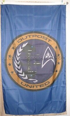 Outpost United Federation of Planets Klingon Star Trek 3' x 5' Vertical Flag