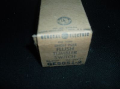 Flush Tumbler Single Pole Switch NOS General Electric side wire GE5051-2